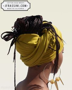 $12.97 Buy fashionable Mustard Bandanas. Perfect for long or short hair, no hair, dreadlocks, African wraps, hair coverings, motorcycle helmets, and chemo/cancer treatment. (818) 749-5066 For sale at http://jfrassini.com/mustard-head-wrap/