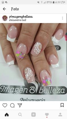 Manicure And Pedicure, Spring Nails, Erika, Diana, Nail Art, French, Makeup, Beauty, Ideas
