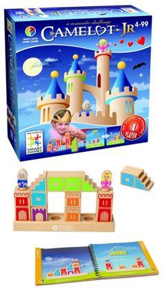 Camelot Jr, smartgame voor kinderen. Bouw een weg, zodat de ridder en de prinses bij elkaar kunnen komen.
