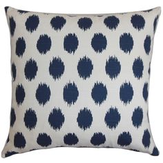 Toss a piece of contemporary comfort into your home when you choose this 18-inch Bali throw pillow as an accent. Pillow Perfect's navy and white geometric pattern paired with clean knife edging brings