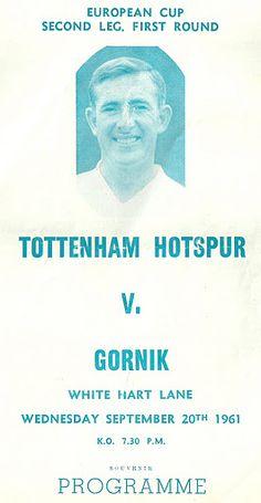 20.09.1961 - Tottenham Hotspur - Górnik Zabrze 8:1 – WikiGórnik
