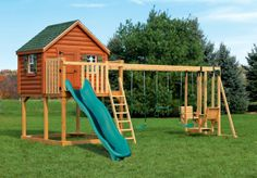 wood Playset | Wood playsets: PC-XL4 Log Cabin