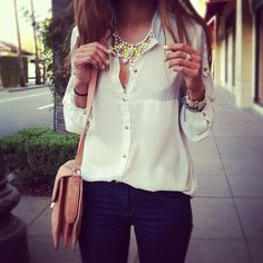 White shirt and jeans, simply
