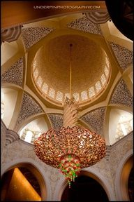Mosque ceiling.