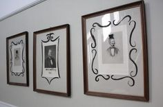 Creepy vintage pictures as Halloween decor. I have the perfect picture to use for this