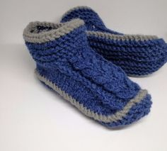 Mens Slippers – Knit slippers for men – a unique product by RasvyteEco on DaWanda