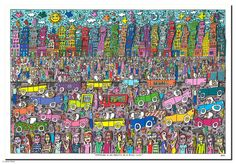 "James Rizzi ""Nothing is as pretty as a rizzi city"" by Galerie Zimmermann & Heitmann"