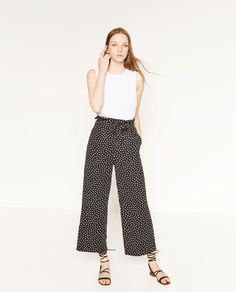 Image 1 of FLOWING POLKA DOT TROUSERS from Zara