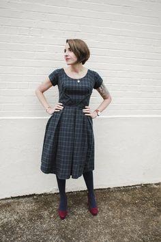 Project Diary: Sarai's dark plaid Rue Dress | Colette Blog