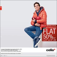 Make this weekend a shopping weekend, Flat 50% off in Celio at Inorbit Whitefield, Do not miss this !