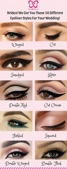 Be it a Winged or a Cat Eyeliner! We Got You These 10 Different Eyeliner Styles for Your Wedding! - Be it a Winged or a Cat Eyeliner! We Got You These 10 Different Eyeliner Styles for Your Wedding! Makeup Artist Quotes, Best Makeup Artist, Makeup Quotes, Quotes On Eyes Beauty, No Eyeliner Makeup, Eye Makeup Remover, Cat Eye Eyeliner, Smokey Eye Makeup Look, Hazel Eye Makeup