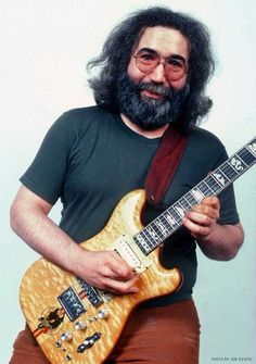 Jerry Garcia with Wolf Guitar Dead Pictures, Dead Pics, John Perry Barlow, Mickey Hart, Jerry Garcia Band, Miss Your Face, Bob Weir, The Warlocks, Kenny Omega
