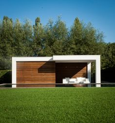Moderne poolhouse / Bogarden Outdoor Living Beton Design, Patio Design, Outdoor Living, Outdoor Decor, Pool Remodel, Modern Patio, Garden Pool, Pool Landscaping, Pool Houses