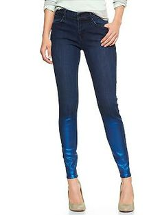 1969 metallic rinse legging jeans might be ugly or I might need 15 pairs.