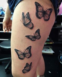 Large Butterfly Thigh Work by BW