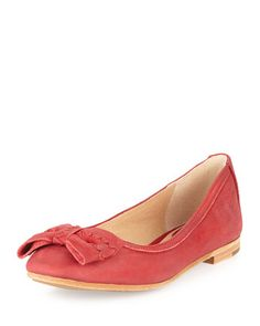 Esther+Leather+Bow+Flat,+Red+by+Frye+at+Neiman+Marcus+Last+Call.