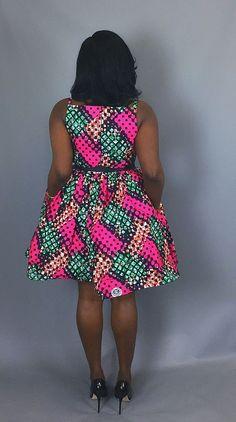 African print cocktail dressAfrican wax print dressesAnkara love the print and style! Latest African Styles, Latest African Fashion Dresses, African Print Fashion, Africa Fashion, African Dashiki Dress, African Print Dresses, Kente Dress, African Blouses, African Prints