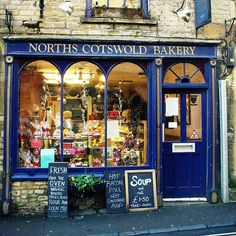 Cotswold Bakery shop front  OMG. And this is exactly why I want to go to europe.