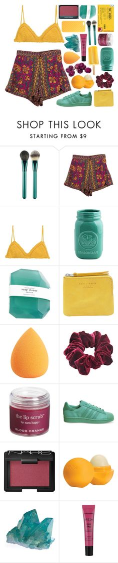 """""""✿ starlight in the middle of the ocean"""" by falloutjadyn ❤ liked on Polyvore featuring MAC Cosmetics, StyleNanda, SHE MADE ME, Acne Studios, Wild Pair, Sara Happ, adidas, NARS Cosmetics, Eos and Stila"""