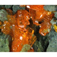 Magnesiopascoite (rare) ~ Gateway Mining District, Mesa County, Colorado, United States of America Formula: Ca2Mg(V10O28)·16H2O Strunz: 4.HC.05