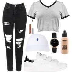 A fashion look from January 2017 featuring Topshop jeans, adidas sneakers and Freedom To Exist watches. Browse and shop related looks.