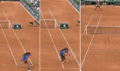 French Open: Dustin Brown pulls off miracle shot in best rally EVER but still loses point