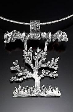 Pendant | Joni Doyle-Sims. Precious metal clay (fine silver)