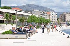 Promenade von Split Richtung Yachthafen (ACI Marina Split)