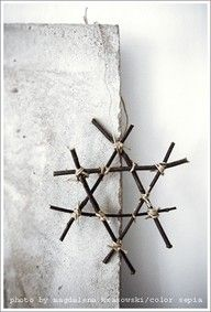 ✯ Wish Upon the Stars ✯  wooden & twine star