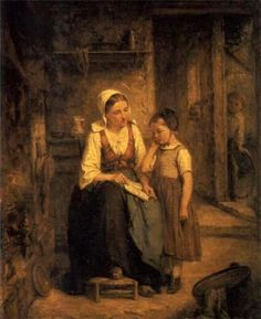 Caille, Leon (b,1836)- Reading Lesson