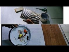 Painting Tools, Painting On Wood, Theatrical Scenery, How To Make Homemade, Plates, Tableware, Youtube, Diy, Licence Plates