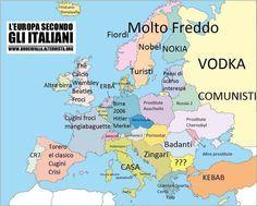Descrizione dell'Europa secondo gli italiani. Notizie curiose dal mondo e link divertenti.