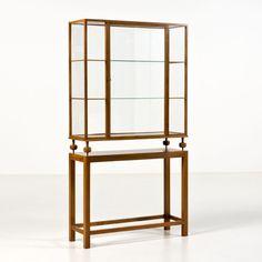 Josef Frank; Walnut and Glass Display Case for Svenskt Tenn, c1950.