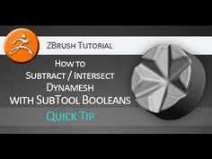 Quick tip #tutorial on how to #subtract and #intersect with #boolean operators in #Pixologic #ZBrush. http://aleksmarkelj.webs.com