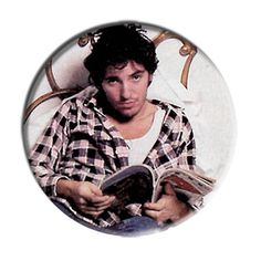 ONLY ONE Bruce Springsteen 2-1/4 Inch Button
