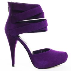 Tayla Heel - Purple Suede main view