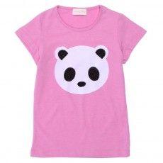 Panda T-shirt!! would be cute to make panda with felt.