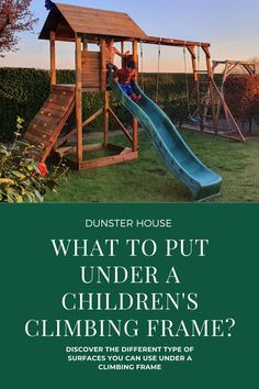 When purchasing a wooden climbing frame, you need to be sure that you have a suitable ground for it to be built on. With children around the age of 3 - 14 years old, you want to ensure that the ground is safe for them, therefore tarmac and concrete wouldn't be suitable.  #ClimbingframeDIY #Climbingframeideas #Climbingframekids #Climbingframesmallgarden  #Climbingframegarden #ClimbingframeDIYplaystructure  #Climbingframeplans  #Climbingframediyhowtobuild #playsets #woodenclimbingframe Climbing Frame Diy, Buried Treasure, Garden Buildings, Heart For Kids, Concrete, Cabin, Age, Adventure, Children