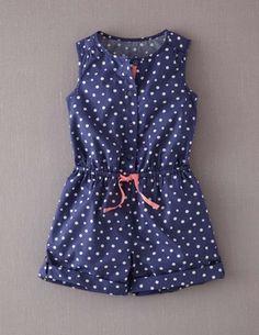 Spotty Playsuit 32485 Dresses at Boden Little Girl Summer Dresses, Dresses Kids Girl, Kids Outfits Girls, Girl Outfits, Girls Playsuit, Girls Rompers, Baby Girl Fashion, Kids Fashion, Kids Blouse Designs