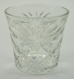 Anchor Hocking - Prescut Clear Pattern - Old Fashioned Glass - 3 Tall   a set of these is on my wish list