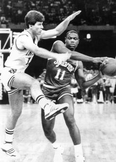 Steve Alford - Indiana and Sherman Douglas - Syracuse