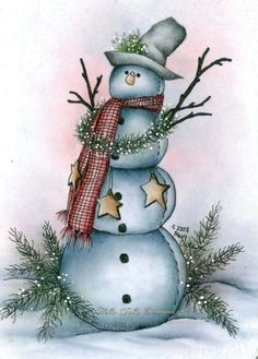 Got Snow by Mr. Christmas Rock, Christmas Canvas, Christmas Scenes, Christmas Pictures, Christmas Snowman, Christmas Projects, Winter Christmas, Holiday Crafts, Christmas Ornaments