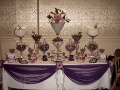 Purple Wedding Candy Buffet Table 2