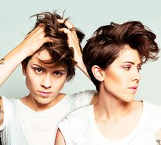 Which brings us to their current hair perfection.  | Tegan And Sara's Hairstyle Evolution