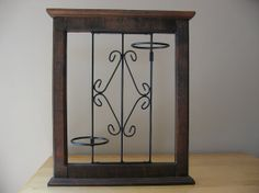 Vintage Wood Frame & Wrought Iron Wall Hanging / by thetoadhouse