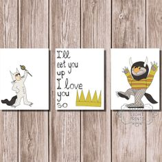 Where the Wild Things Are Print Set by LittleLightPrints on Etsy, $30.00