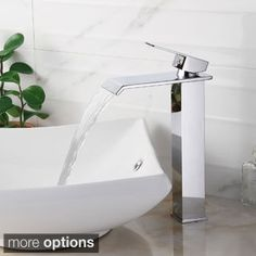 Sprinkle® Sink Faucets , Contemporary With Chrome Single Handle One Hole ,  Feature For Waterfall Centerset | Bathroom Sink Faucets, Chrome Finish And  Faucet