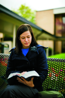 Sister Missionary at the MTC studying scripture - Photo courtesy of  © 2013 by Intellectual Reserve, Inc. All rights reserved.