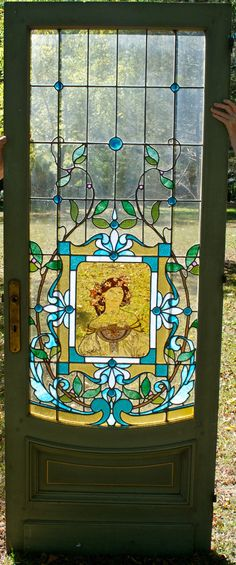 Neo-Classical Stained Glass Hall Entrance Architectural Materials, Stained Glass, Entrance, Quilts, Architecture, Arquitetura, Entryway, Door Entry, Quilt Sets