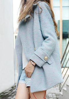 flecked sky-blue coat <3